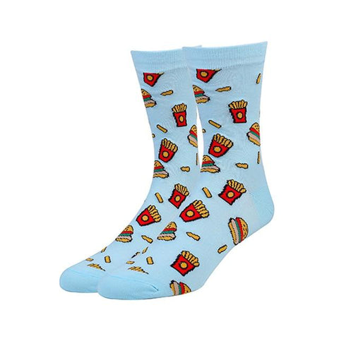 Image of VPM Colorful Cotton Men Socks Funny Food Pineapple Pizza Hamburger Beer Chili Skate Harajuku Happy Socks For Christmas Gift