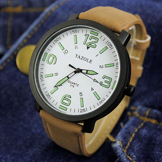 Watch Men YAZOLE Brand Luxury Fashion Sports Watches Luminous Male Clock Quartz Watch Hour