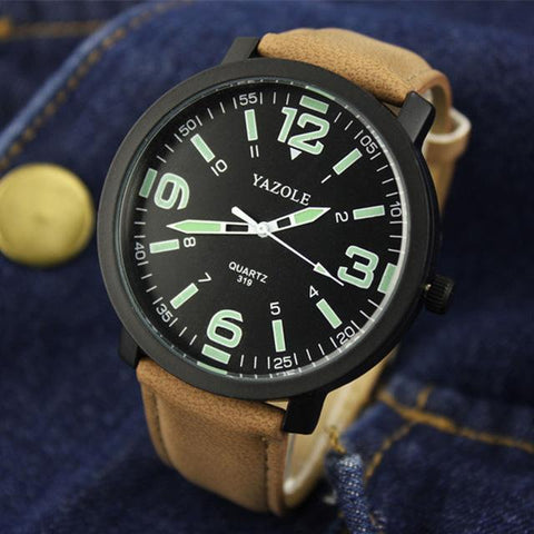 Image of Watch Men YAZOLE Brand Luxury Fashion Sports Watches Luminous Male Clock Quartz Watch Hour