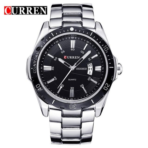 Image of Watches Men Luxury Brand Watch CURREN Quartz Sport Military Men Full Steel Wristwatches Dive 30m Casual Watch Relogio Masculino