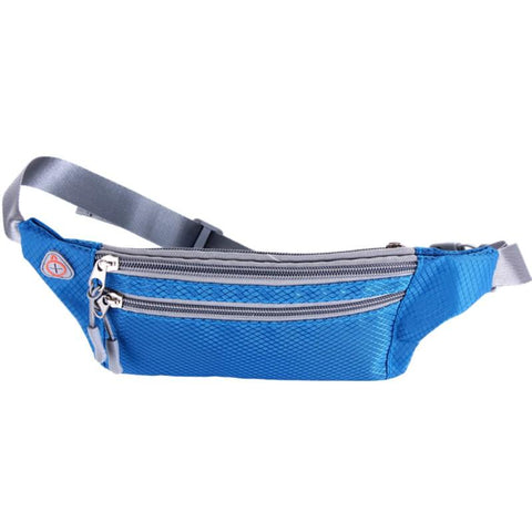 Image of Waterproof Outdoor Functional Running Waist Bag Sport Packs For Music With Headset Hole-Fits Smartphones Bike Bag