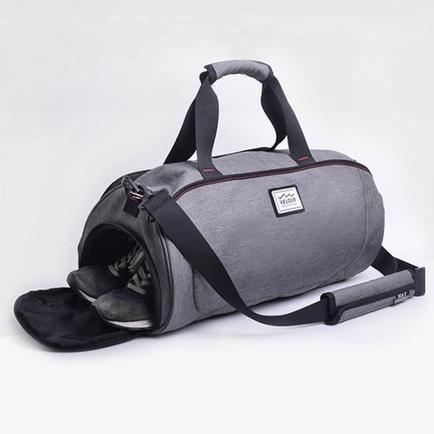 Image of Waterproof Shoulder Sports Gym Bag For Shoes Bags Women Fitness Yoga Training Men