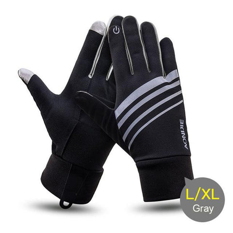 Image of Winter Unisex Sports Touchscreen Windproof Thermal Fleece Gloves Running Jogging Hiking Cycling Skiing Bicycle