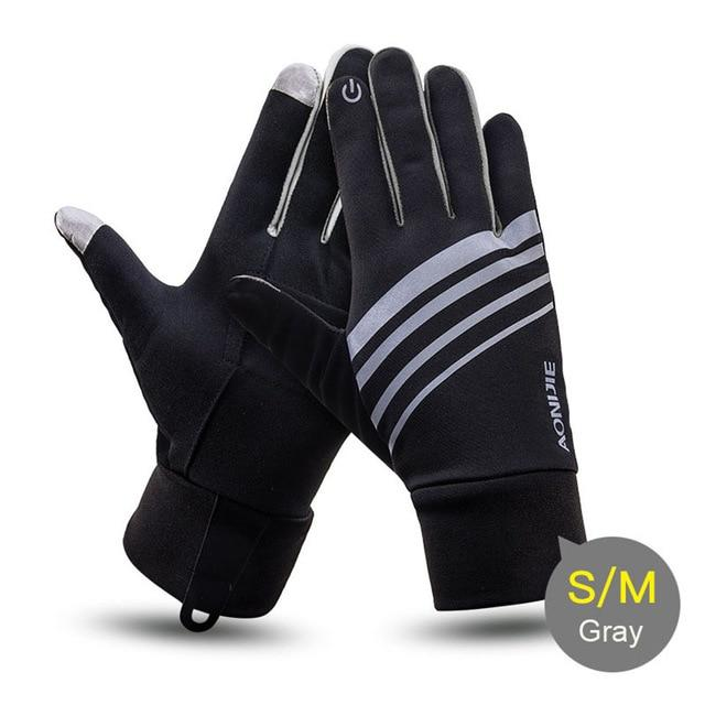 Winter Unisex Sports Touchscreen Windproof Thermal Fleece Gloves Running Jogging Hiking Cycling Skiing Bicycle