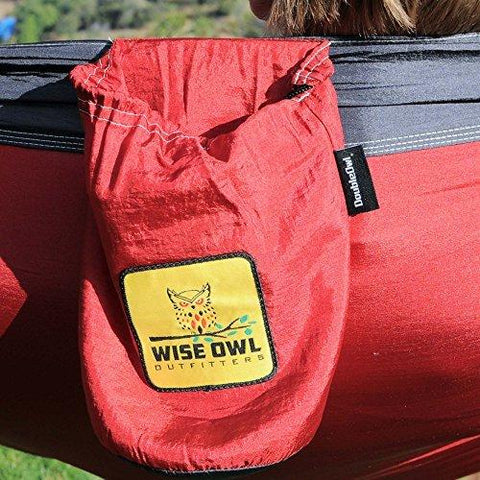 Image of Wise Owl Outfitters Hammock For Camping - Single & Double Hammocks - Top Rated Best Quality Gear For The Outdoors Backpacking Survival Or Travel - Portable Lightweight Parachute Nylon Many Colors