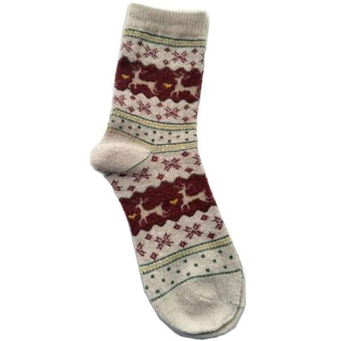 Image of Women's Socks Lady Christmas Gift Sock Fashion Winter Cute Wool 3d Ladies Crazy Sock Female Thermal Warm Animal Socks