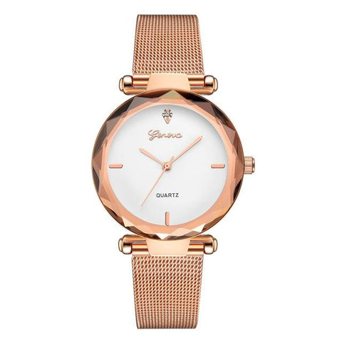 Image of Women Watches Geneva Fashion Classic Luxury Stainless Steel Analog Quartz WristWatch