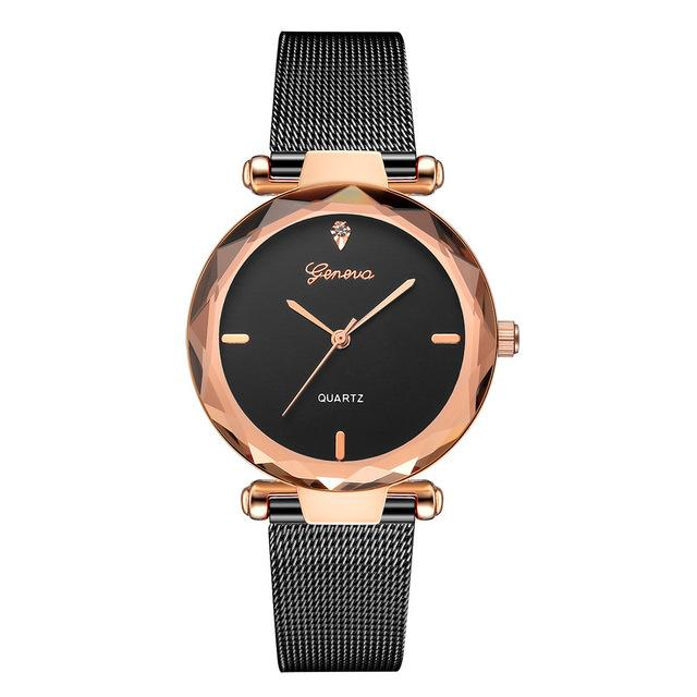 Women Watches Geneva Fashion Classic Luxury Stainless Steel Analog Quartz WristWatch