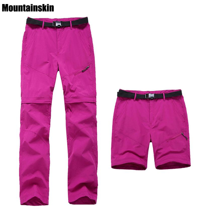 Womens Quick Dry Removable Pants Spring Summer Hiking Pants Brand Sport Outdoor Trouser Female Fishing Trekking Pants