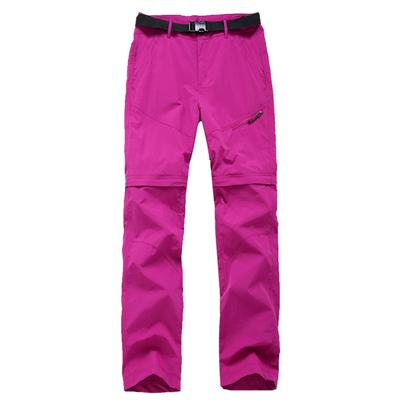 Image of Womens Quick Dry Removable Pants Spring Summer Hiking Pants Brand Sport Outdoor Trouser Female Fishing Trekking Pants