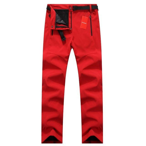 Image of Womens Thick Warm Fleece Softshell Pants Fishing Camping Hiking Skiing Trousers Waterproof Windproof