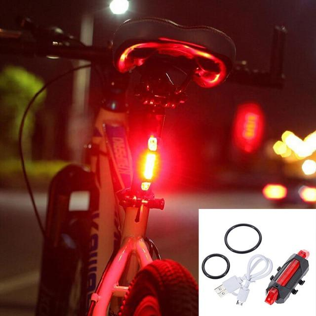 Zacro Bicycle Light Rechargeable LED Taillight USB Rear Tail Safety Warning Cycling Light Portable Flash Light Super Bright
