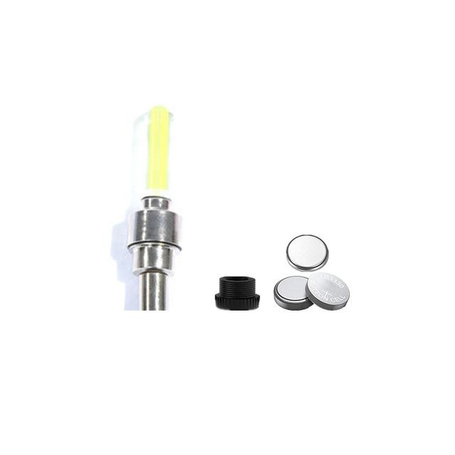 Zacro Tyre Valve Caps Wheel Spokes Led Light Bike Light With Battery Mountain Road Bike Bicycle Lights