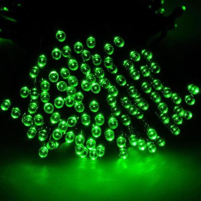 ZINUO 12M 100LEDs Solar Light 2 Modes Led String Light Christmas Outdoor Fairy String Solar Lamp LED Garland New Year Decoration