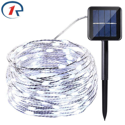 Image of ZjRight 20 M 200 LED Copper Wires Solar String Fairy Lights Premium Quality Solar Panel Lampara For Christmas Garden Decoration