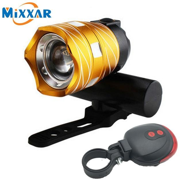 ZK30 T6 LED Bicycle Light Bike Front Lamp Outdoor Zoomable Torch Headlight USB Rechargeable Built-in Battery 15000LM