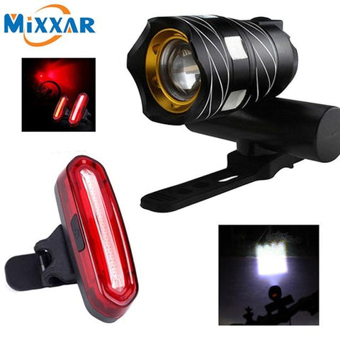 Image of ZK30 T6 LED Bicycle Light Bike Front Lamp Outdoor Zoomable Torch Headlight USB Rechargeable Built-in Battery 15000LM