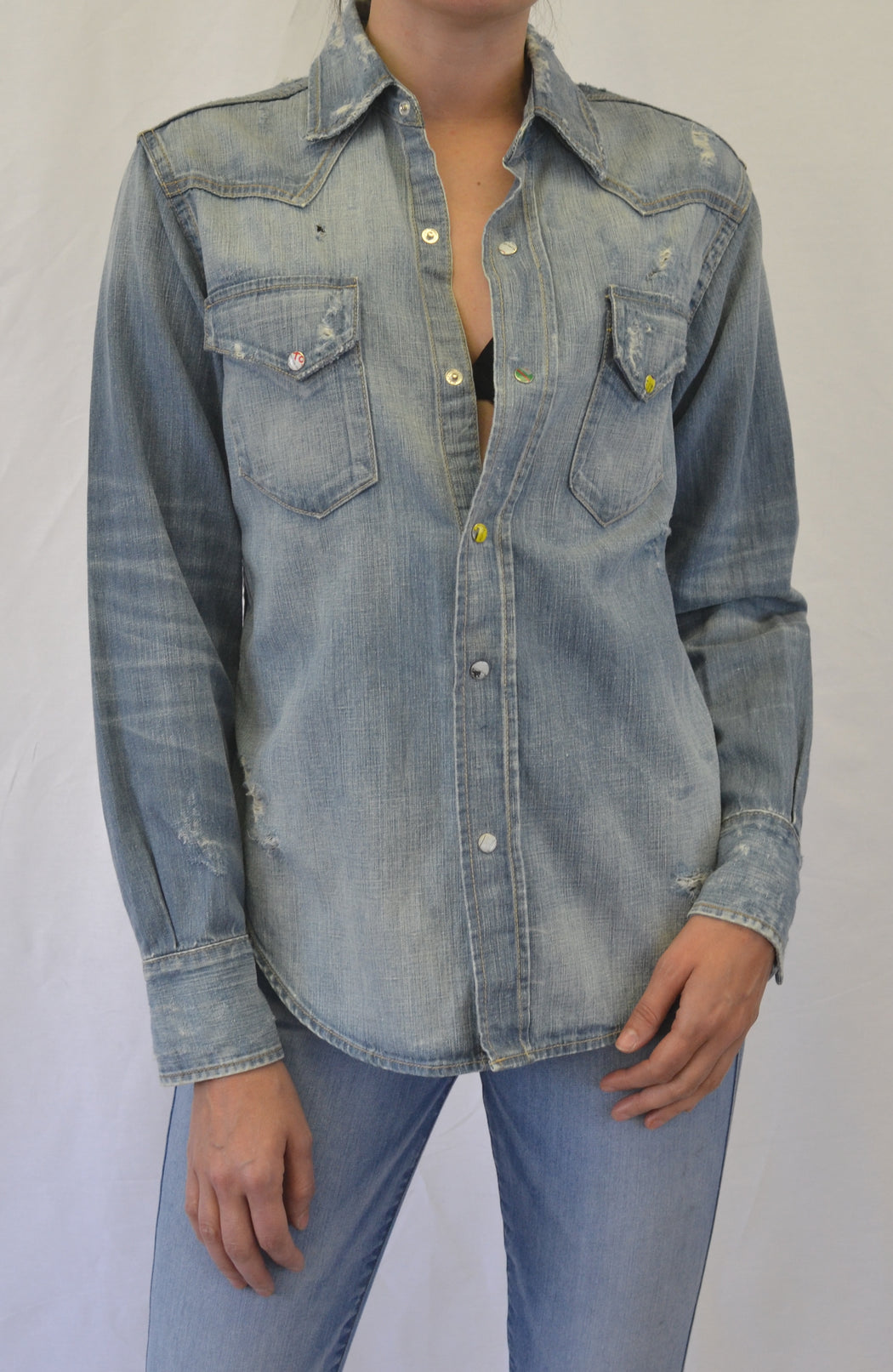 WESTERN COTTON HEMP DENIM SHIRT Entity Wash