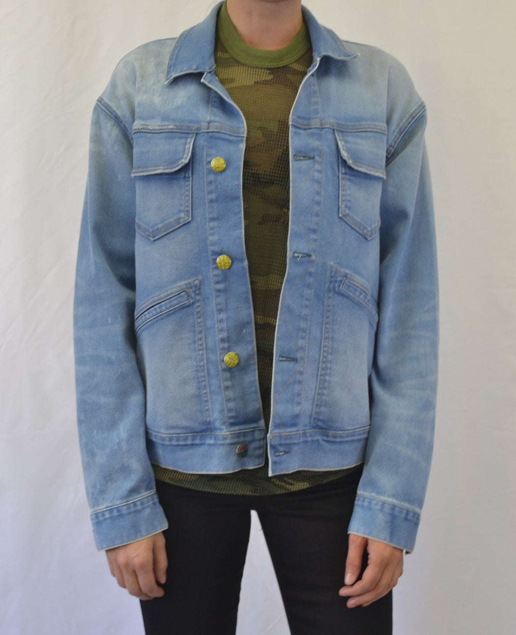 BIG Trucker Jacket in our Chemical FREE Life Line Wash