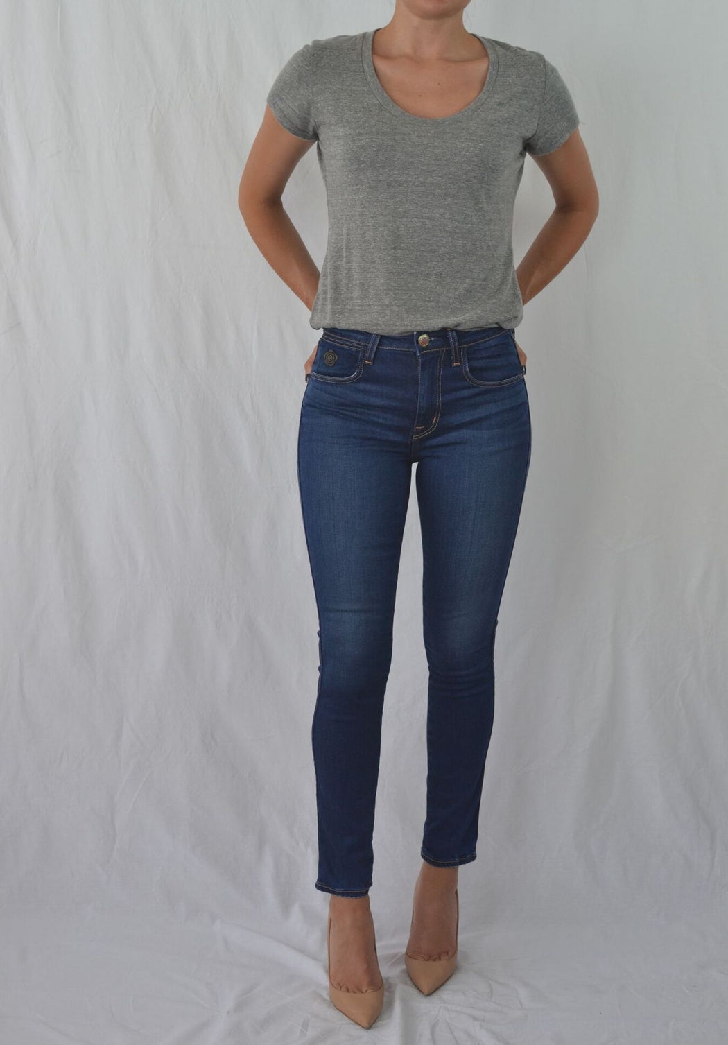 RECYCLED TRUTH HIGH RISE SKINNY JEAN IN SPIRIT WASH