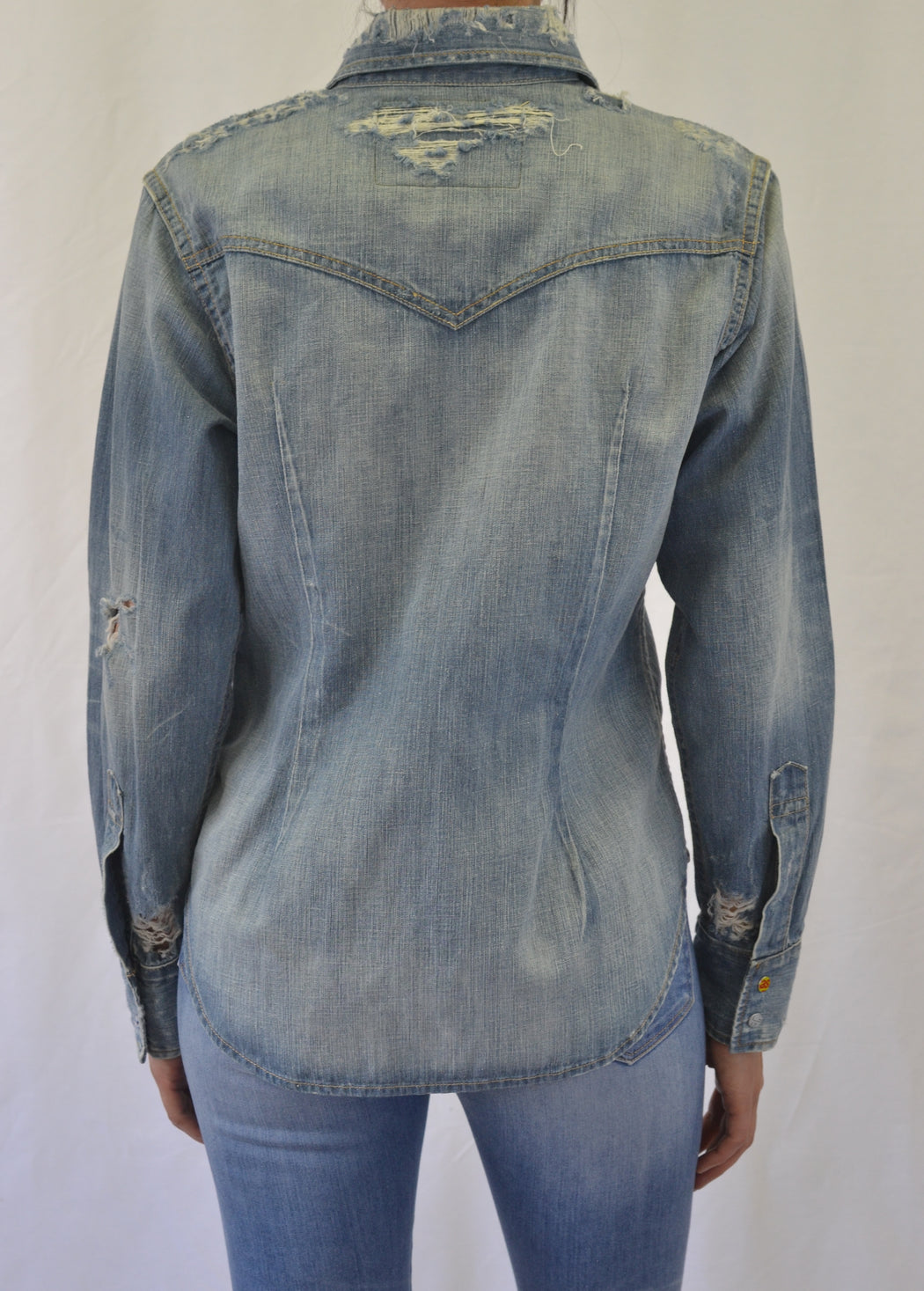 Vital Snap-front Western Denim Shirt -Entity Wash