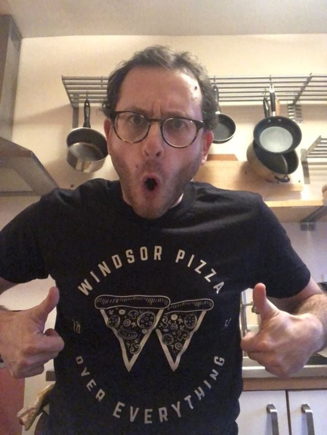 Pizza Historian Representing Windsor Pizza!