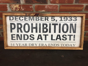 Prohibition Newspaper Headline