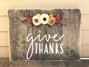 Give Thanks- Large
