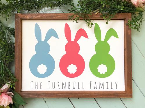 Family Easter Sign
