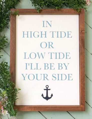 In High Tide or Low Tide