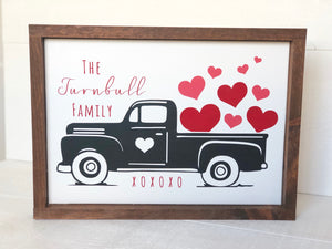 Personalized Valentine's Day Truck