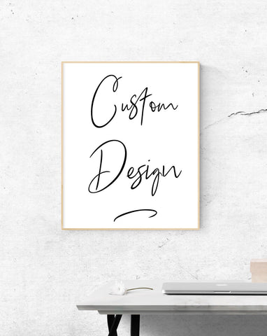 "Customs Design 3 - up to 13""x24"""