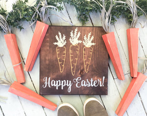 Happy Easter with Carrots