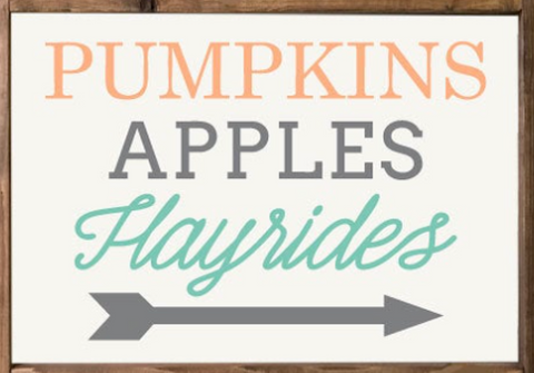 Pumpkins, Apples, Hayrides