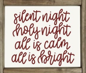 Silent Night Whimsical Sign