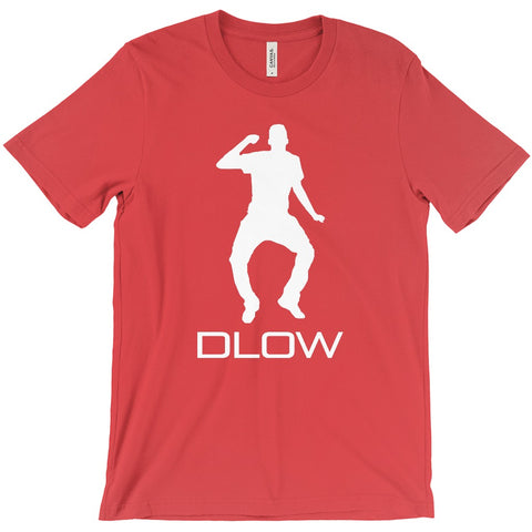 DLOW Shirts - Red w/ White Text