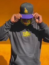 Crowns & Hops Black and LA Gold Lightweight Hoodie