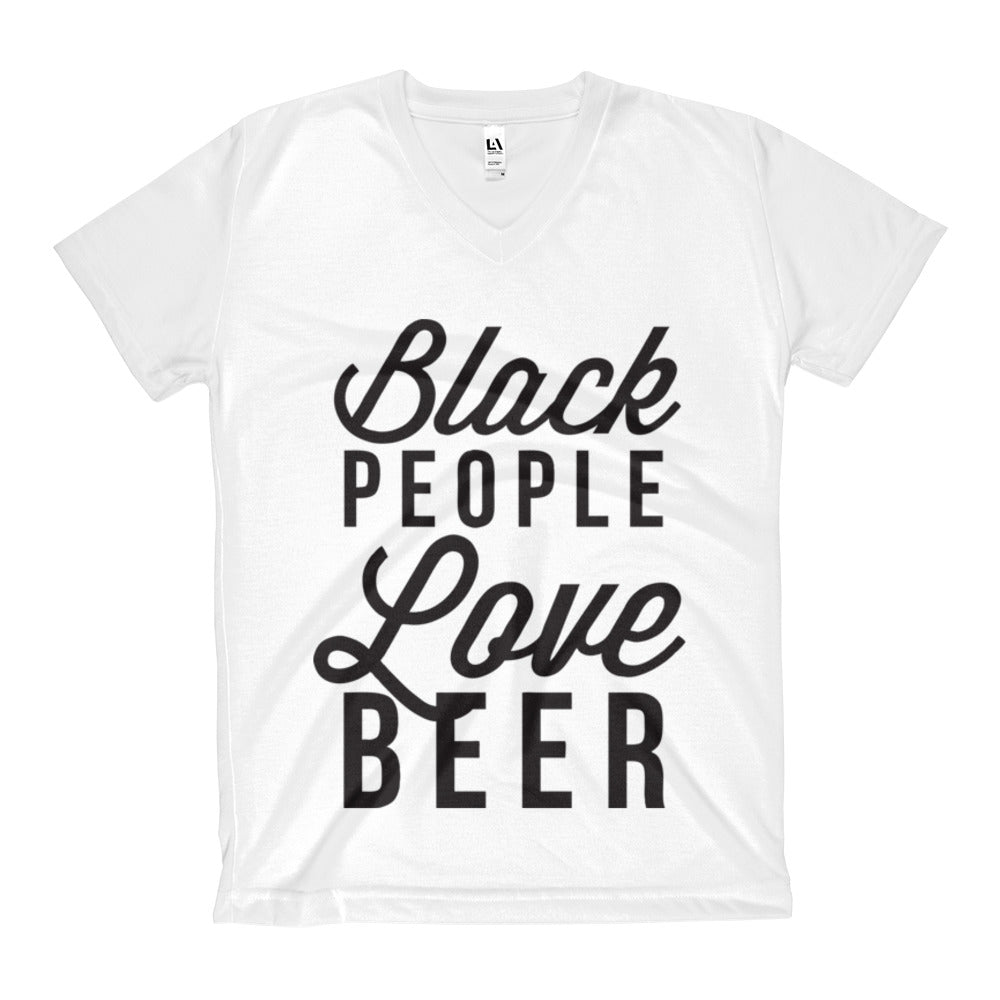 Black People Love Beer Women's V-Neck