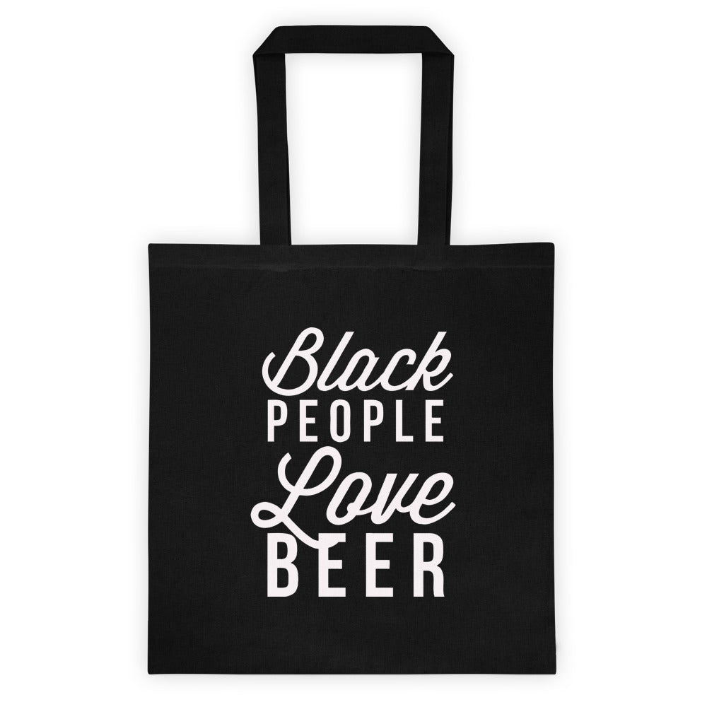 Black People Love Beer Tote bag