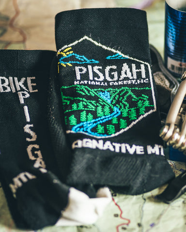 PISGAH NATIONAL FOREST MOUNTAIN BIKE SOCKS