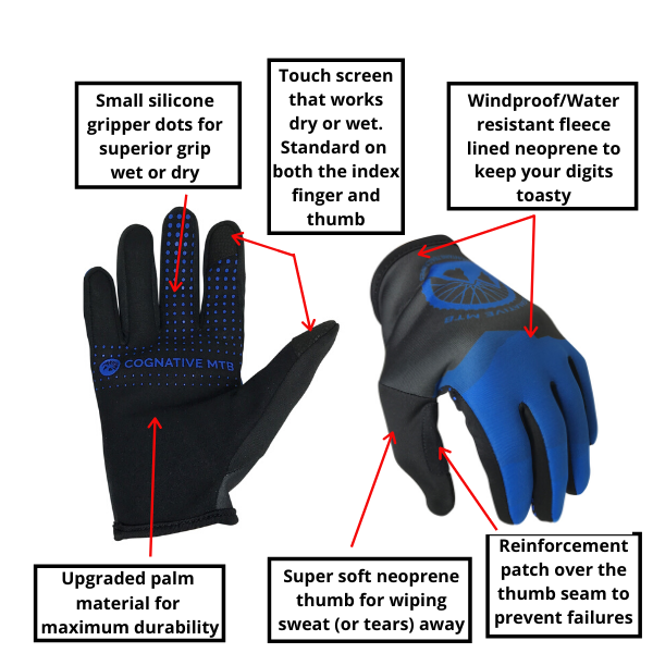 Cool Weather Mountain Bike Gloves