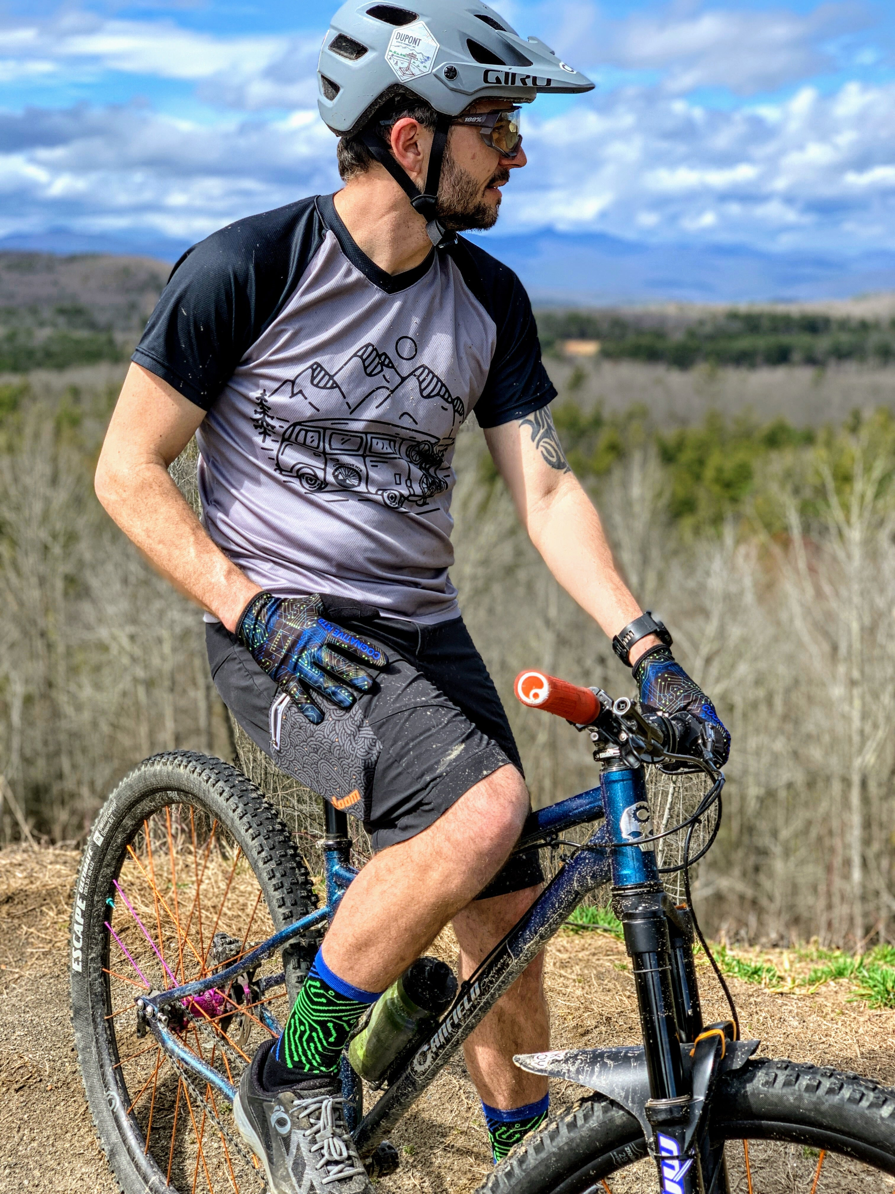Cognative Motherboard Mountain Bike Socks in Dupont State Forest