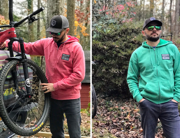 PISGAH NATIONAL FOREST MOUNTAIN BIKE HOODIE