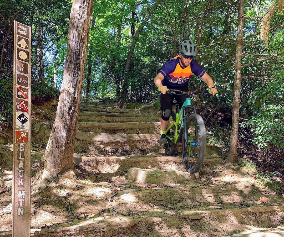 Go Ride Your Bike Jersey in Pisgah National Forest