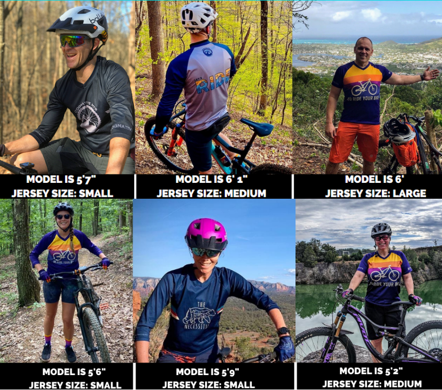 Mountain Bike jersey size guide