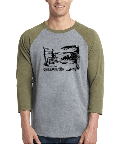 Dupont Big Rock Trail Unisex 3/4 Sleeve Raglan
