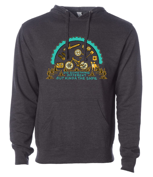 BERM PEAK DO SOMETHING DIFFERENT HOODIE (HEATHER CHARCOAL)