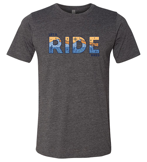 Let's Ride Bikes mtb t-shirt grey