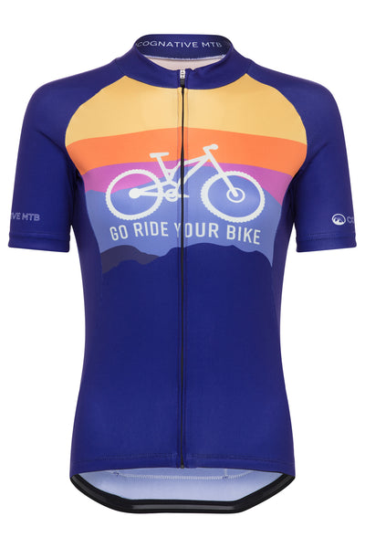 WOMEN'S GO RIDE YOUR BIKE - 3-POCKET ZIP JERSEY