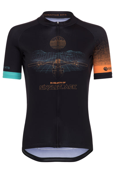 "WOMEN'S IN SEARCH OF SINGLETRACK ""GRID"" - 3-POCKET ZIP JERSEY"
